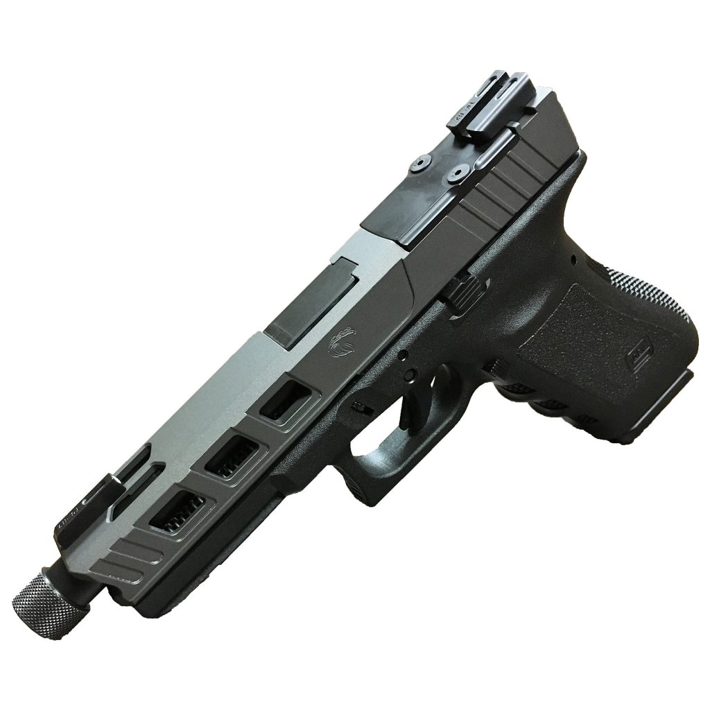 An example of a decked out LFA aftermarket Glock slide